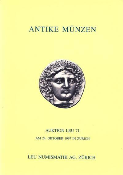 Ancient Coins - Leu Numismatik, Auktion 71, 24 October 1997.