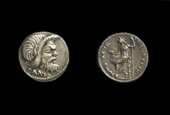 Ancient Coins - C Vibius Cf Cn Pansa, c. 48 BC. AR Denarius (4.15g).