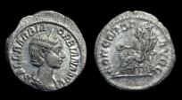 Ancient Coins - Orbiana, Wife of Severus Alexander. AR Denarius (2.69g), AD 225.