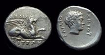 Ancient Coins - THRACE, Abdera. AR Stater (10.13g), c. 365-345 BC. pedigree