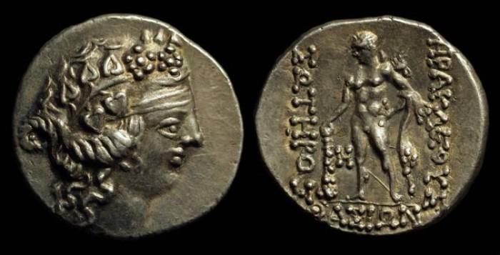Ancient Coins - THRACE, Islands off. Thasos. AR Tetradrachm (16.76g), c. 145-90 BC.