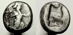 Ancient Coins - PERSIA, Achaemenid Empire. Artaxerxes II to Artaxerxes III. Fourrée Siglos