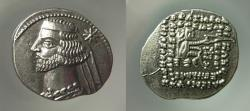 Ancient Coins - KINGS OF PARTHIA, Mithradates IV (58/7-55 BC). Silver Drachm.  Superb EF, Lustrous.