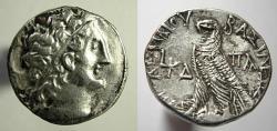 Ancient Coins - Egypt, Ptolemaic Kingdom, Ptolemy XII, Tetradrachm, 58/7 BC,