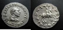 Indo-Greek King Philoxenos Circa 125-110 BC. AR Tetradrachm.  Rare