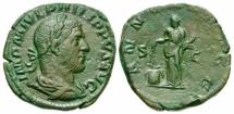 Ancient Coins - Philip I. A.D. 244-249. AE sestertius. Rome mint, Annona Standing.