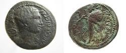 Ancient Coins - Julius Caesar.  C. Clovius, praefect. Æ Dupondius. Victory / Minerva