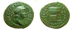Ancient Coins - Nero. AD 54-68. Æ As.  Temple of Janus