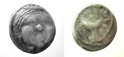 Ancient Coins - Etruria. Populonia. AR 20 Asses.  Rare type with Etruscan inscription.