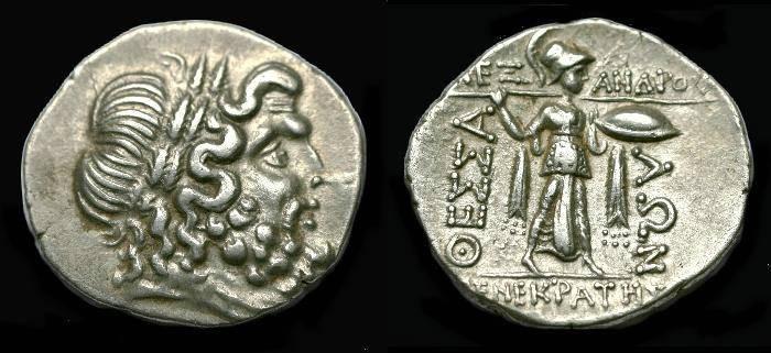 Ancient Coins - Thessalian League.  Ar double Victoriatus.  C. 196-146 BC.  Nice coin.