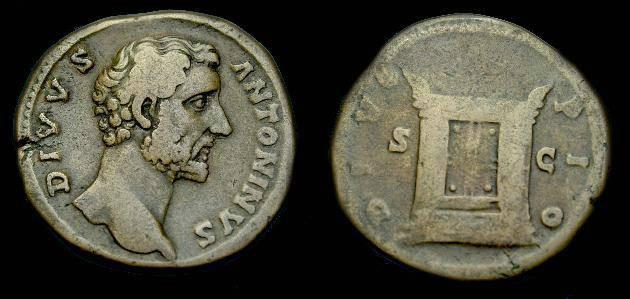 Ancient Coins - Antoninus Pius.  Ae sestertius.  after 161 AD.  Pleasing coin.