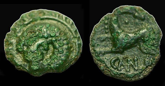 Ancient Coins - Cunobelin.  Ae unit.  C. 1st century AD.  SCARCE.