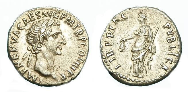Ancient Coins - SUPERB NERVA AR DENARIUS