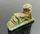 Ancient Coins - EGYPTIAN FAIENCE AMULET OF PTAH WITH PHALLUS