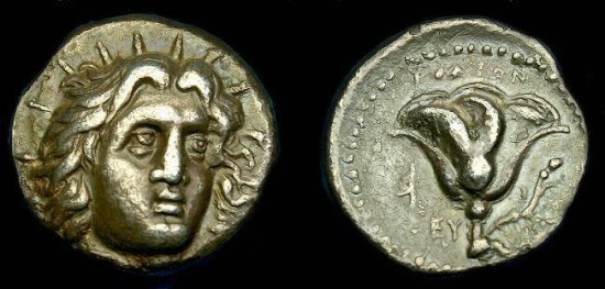 Ancient Coins - Caria.  Rhodes.  Ar didrachm.  304-275 BC.  Pleasing coin.