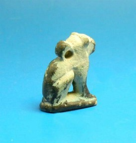 Ancient Coins - EGYPTIAN FAIENCE AMULET OF BASTET