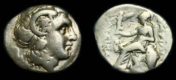 Ancient Coins - Thrace, Lysimachos.  Ar drachm.  297-281 BC.