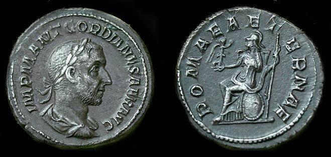 Ancient Coins - Gordian I Africanus.  Ar denarius.  238 AD.  Super rare coin.