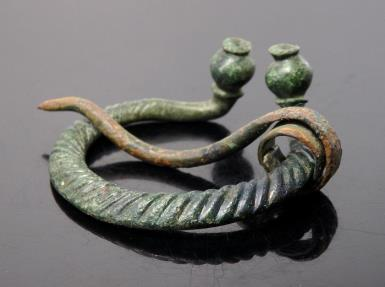 Ancient Coins - Baltic Viking Bronze Penannular Brooch
