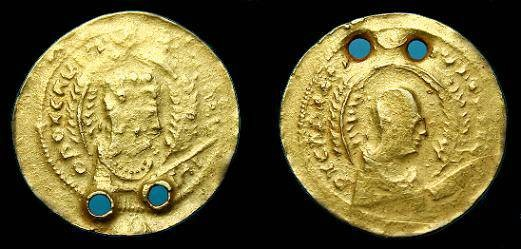 Ancient Coins - Axumite.  Christian Kings of Aksum.  Au solidus.  400 AD.