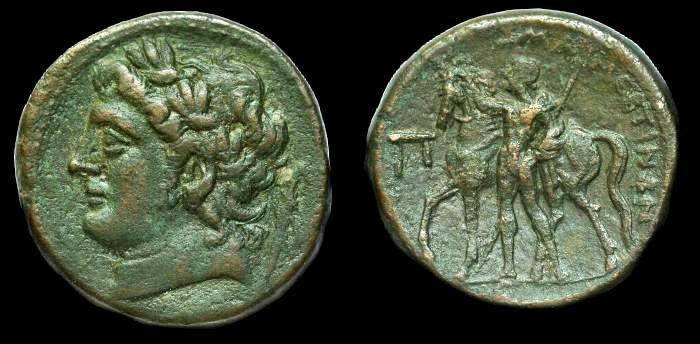 Ancient Coins - Sicily.  Messana under the Mamertini.  Ae 25.  C. after 288 BC.