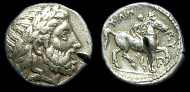 Ancient Coins - Macedon.  Philip II.  Ar tetradrachm.  C. 359-336 BC.