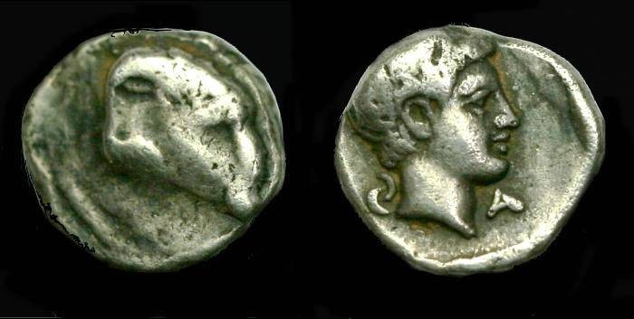 Ancient Coins - Troas.  Cebren.  Ar obol.  C. 400-310 BC.