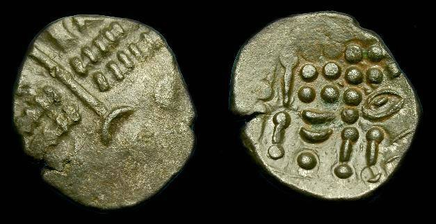 Ancient Coins - Celtic.  Durotriges.  Billon stater.  58-45 BC.  Nice metal for issue.