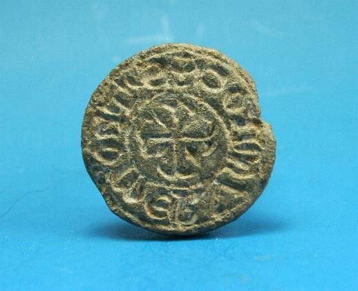 Ancient Coins - Medieval lead seal.  C. 13th century.