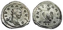 Ancient Coins - DIVO CARUS BI ANTONINIANUS LUGDUNUM MINT