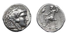 Ancient Coins - Macedon. Alexander III the Great. Ar Tetradrachm. Under Ptolemy I.  Salamis Mint