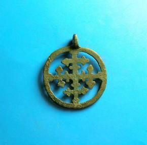 Ancient Coins - Viking bronze pendant. C. 10th-11th century.