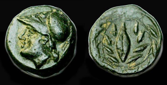 Ancient Coins - Elaia.  Aeolis.  Ae 11.  C. 4th-3rd century BC.  Scarce.