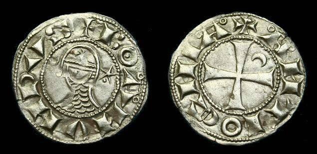 Ancient Coins - Bohemund III.  Ar denier.  1149-1201.  Super quality.