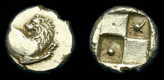 Ancient Coins - Thrace.  Cherronesos.  Ar hemidrachm.  400-300 BC.  Super detail on lion head.