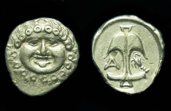 Ancient Coins - Thrace.  Apollonia Pontika.  Ar drachm.  C. 5th-4th century BC.