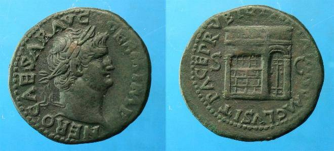 Ancient Coins - Nero.  Ae As.  C. 65 AD.  Super detail.