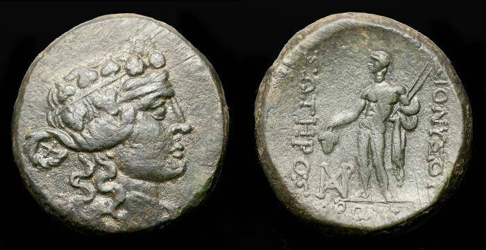 Ancient Coins - Thrace.  Maroneia.  Ae 26.  C. 2nd-1st century BC.  Superb coin.