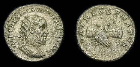 Ancient Coins - Pupienus.  Ar ant.  238 AD.  Rare type.