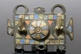 Ancient Coins - LARGE ROMAN PHALLIC ENAMELLED BRONZE FITTING