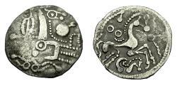 Ancient Coins - Gallo-Belgic Ambiani Ar Denier