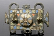 Ancient Coins - LARGE ROMAN PHALLIC ENAMELLED BRONZE FITTING