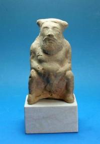 Ancient Coins - Greek.  Corinthian terracotta statue of a 'Satyr'.  C. 5th century BC.