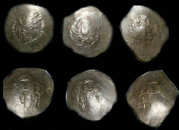 Ancient Coins - 3 Byzantine Ae trachea.  Latin rulers.