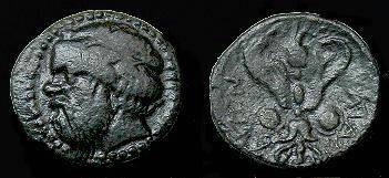 Ancient Coins - Sicily.  Katane.  Ar litra.  413-404 BC.  Very Rare.