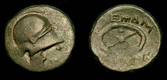 Ancient Coins - Thrace, Mesembria.  Ae19.  300-250 BC.  Nice example.