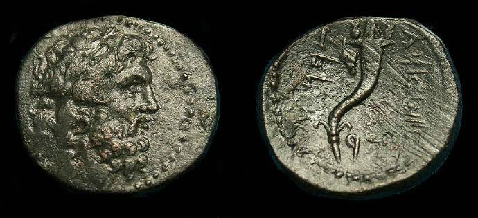 Ancient Coins - Phoenicia, Carne.  Ae 21.  190 BC.  Scarce type.