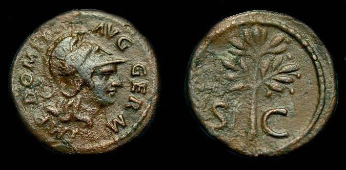 Ancient Coins - Domitian.  Ae quadrans.  81-96 AD.