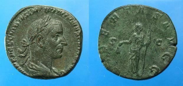 Ancient Coins - Trebonianus Gallus.  Ae sestertius.  C. 253 AD.  Superb portrait.