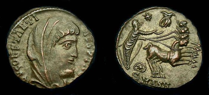 Ancient Coins - Constantine I.  Commemorative issue Ae 4.  337-340 AD.  Stunning reverse.